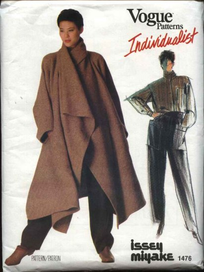 Vogue Sewing Pattern 1476 Misses Size 12 Issey Miyake Individualist Coat Shirt Pants