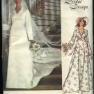 Vogue Sewing Pattern 1487 Misses Size 16 Retro  Bridal Dress Wedding Gown Bridesmaid Train