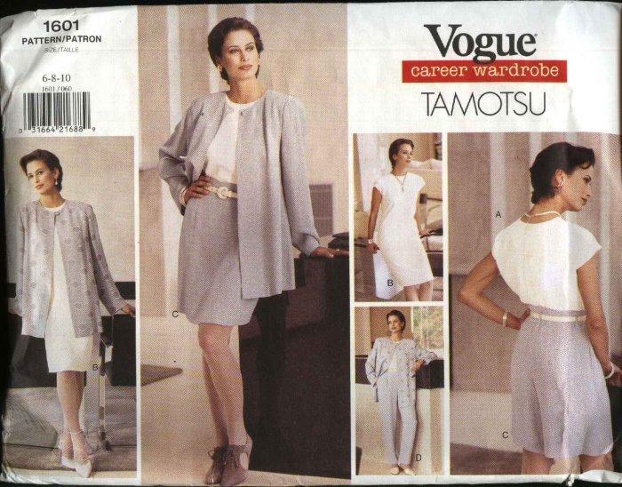 Vogue Sewing Pattern 1601 Misses Size 6-8-10 Tamotsu  Wardrobe Jacket Dress Top Shorts Pants