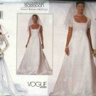 Vogue Sewing Pattern 2085 Misses Size 6-8-10 Bellville Sassoon Wedding Gown Bridal Dress Jacket