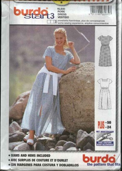 Burda Sewing Pattern 8985 Misses Sizes 10-24 Pullover Dress