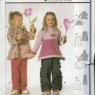 Burda Sewing Pattern 9771 Girls Sizes 3-8 Easy Pullover Tops and Pull-on Pants