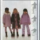 Burda Sewing Pattern 9823 Girls Size 2-6 Coat  Jacket Optional Hood