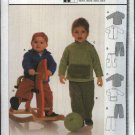 Burda Sewing Pattern 9875 Boys Size 1 month - 18 months Easy Pants Top