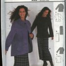Burda Sewing Sewing Pattern 8733 Misses Sizes 12-22  Mock wrap Skirt PulloverTop Jacket