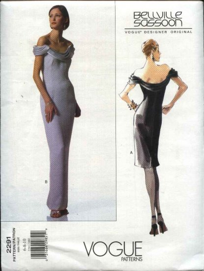 Vogue Sewing Pattern 2291 Misses size 12-14-16 Bellville Sassoon Dress Evening Gown Formal