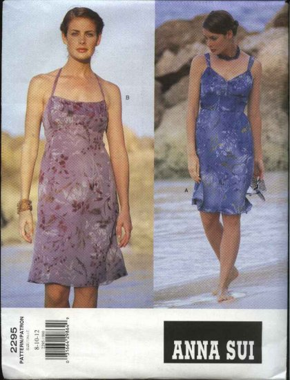 Vogue Sewing Pattern 2295 Misses size 14-16-18 Easy Anna Sui Summer Halter Dresses