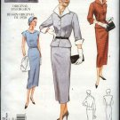 Vogue Sewing Pattern 2402 Misses Size 12-16 1950 Style Dress Jacket Detachable Collar Cuffs