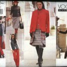 Vogue Sewing Pattern 2491 Misses size 14-16-18 Wardrobe Jacket Top Pants Skirt Vest