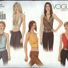Vogue Sewing Pattern 2563 Misses Size 14-16-18 Easy Basic Halter Tops