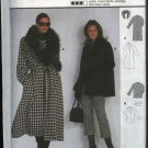 Burda Sewing Pattern 8760 Misses Size 8/10-20/22 Front Wrap Winter Coat jacket