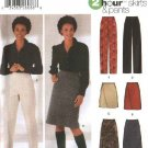 Simplicity Sewing Pattern 5844 Misses Size 6-12 2 Hour A-Line Long Short Skirts Long Straight Pants