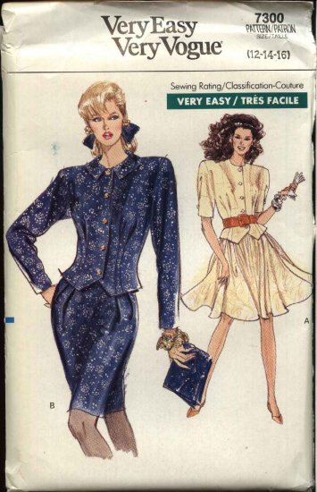Vogue Sewing Pattern 7300 Misses Sizes 12-16 Easy Skirts Tops