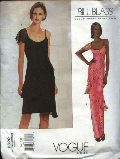 Vogue Sewing Pattern 2620 Misses Size 14-16-18 Bill Blass Formal Dress Evening Gown Formal