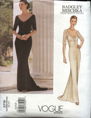 Vogue Sewing Pattern 2716 Misses Size 6 8 10 Badgley