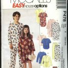 McCall's Sewing Pattern 478 Boys Girls Size 2-7 Easy Pajamas Robe Top Pants Nightgown Nightshirt