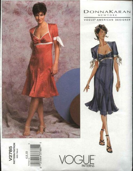 Vogue Sewing Pattern 2785 Misses Size 18-20-22 Donna Karan Spring Summer Dress