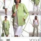 Vogue Sewing Pattern 2804 Misses Size 8-10-12 Easy Wardrobe Jacket Top Dress Skirt Pants