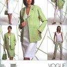 Vogue Sewing Pattern 2804 Misses Size 20-22-24 Easy Wardrobe Jacket Top Dress Skirt Pant