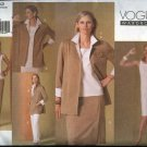 Vogue Sewing Pattern 2852 Misses Size 8-10-12 Easy Wardrobe Skirt Dress Jacket Top Pants