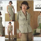Vogue Sewing Pattern 2865 Misses size 12-14-16 Wardrobe Top Pants Jacket Skirt Dress