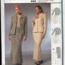 Burda International Sewing Pattern 2540 Misses Size 8-18 Suit Jacket Long Skirt