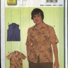 Burda Sewing Pattern 8605 Teen Boys Mens Sizes 36-50 Easy Shirt