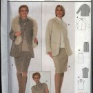 Burda Sewing Pattern 8715 Misses Size 12-22 Easy Suit Jacket Skirt Top Blouse