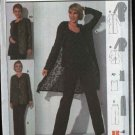 Burda Sewing Pattern 8720 Misses Size 12-22 Duster Jacket Shell Top Pants