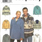 "Simplicity Sewing Pattern 4829 Misses Mens Size XS-M  Chest Size 30-40"" Fleece Knit Tops"