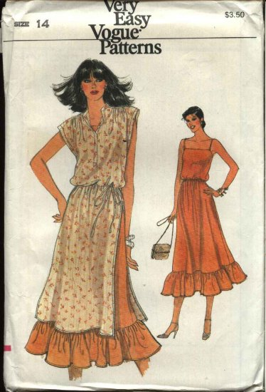 Retro Vogue Sewing Pattern 7309 Misses Size 14  Easy Layered Dress Tunic
