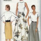 Vogue Sewing Pattern 7432 Misses Size 14-16-18 Easy Straight Flared Skirt