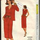Retro Vogue Sewing Pattern 7542 Misses 12-14 Easy Knit Dress Jacket