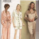 Vogue Sewing Pattern 7645 Misses Size 8-10-12 Easy Bathrobe Top Pants Shorts Pajamas