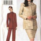 Vogue Woman Sewing Pattern 7662 Misses Size 8-10-12 Jacket Skirt  Pants Suit Pantsuit