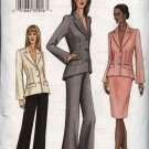 Vogue Sewing Pattern 7673 Misses Size 6-8-10 Suit Jacket Skirt Pants Pantsuit