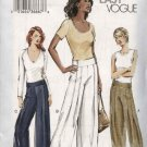 Vogue Sewing Pattern 7736 Misses Size 6-8-10 Easy Low-rise Yoke Wide legged Pants