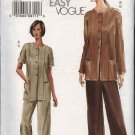 Vogue Sewing Pattern 7753 Misses Size 8-10-12 Easy Tunic Jacket Straight Leg Pants