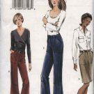 Vogue Sewing Pattern 7805 Misses Sizes 6-8-10 Easy Fitted Straight Skirt Wide Legged Pants Capris