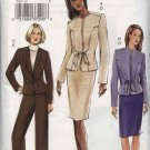 Vogue Sewing Pattern 7810 Misses Size 14-16-18 Fitted Jacket Skirt Pants Suit Pantsuit