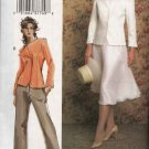 Vogue Woman Sewing Pattern 7859 Misses size 6-8-10 Jacket Skirt Pants Suit Pantsuit