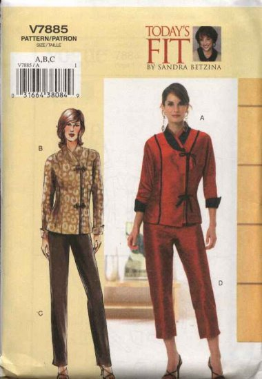 Vogue Sewing Pattern 7885 Womens Plus Size 24W-32W Top Pants Pantsuit Sandra Betzina