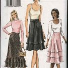 Vogue Sewing Pattern 7972 Misses size 14-16-18 Easy  Layered Flared Skirts