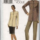 Vogue Sewing Pattern 7973 Misses Size 6-8-10-12 Easy Lined Jacket Skirt Pants Suit Pantsuit