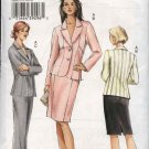 Vogue Sewing Pattern 8045 Misses Size 8-10-12 Lined Seam Details Jacket Skirt Pants Suit