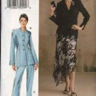 Vogue Woman Sewing Pattern 8047 Misses Size 8-10-12 Fitted Lined Jacket Skirt Suit Pantsuit