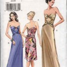 Vogue Sewing Pattern 8074 Misses Size 6-8-10 Easy Formal Evening Gown Dress Strapless