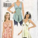 Vogue Sewing Pattern 8077 Misses Size 6-8-10 Easy Sleeveless Tops Tunics Empire Waist