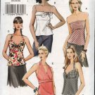 Vogue Sewing Pattern 8079 Misses Size 18-20-22 Easy Halter Strapless Tops