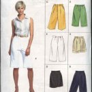 Vogue Sewing Pattern 8085 Misses size 6-8-10 Easy Shorts City Walking Bermuda Cuffs